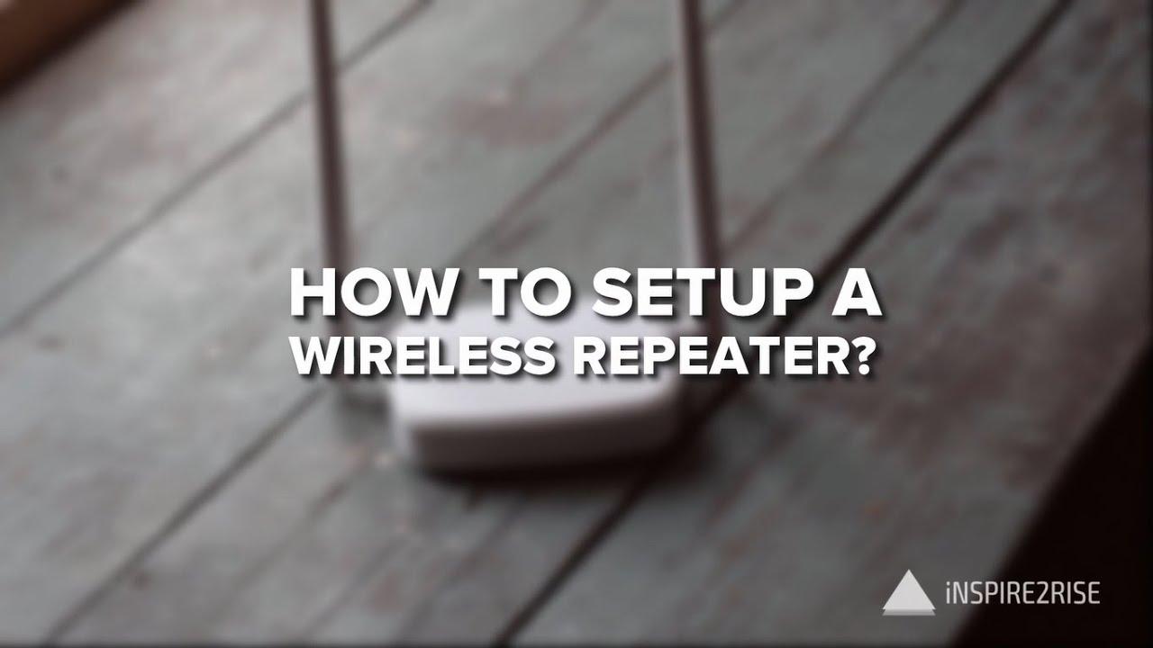 How To Setup A Wireless Repeater Tenda Router Review A6 N150 Mini Ap Putih Youtube