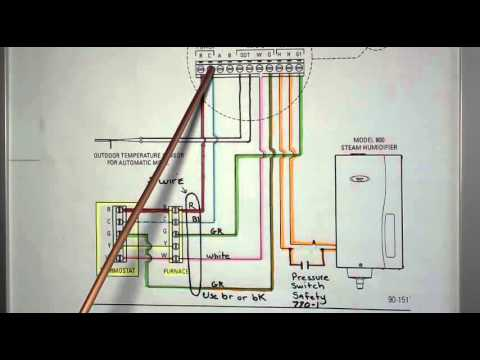 aprilaire model 62 basic wiring - youtube  youtube