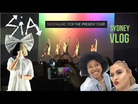 Sia Nostalgic For The Present Tour SYDNEY 2017 VLOG - Elise Wheeler