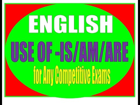 How to Use 'Is', 'Are' and 'Am' - Learn English Grammar Online BY BHARAT L.I.C