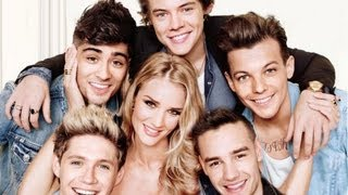 Rosie Huntington-Whiteley with One Direction Cover Makeup Look - using drugstore makeup Thumbnail