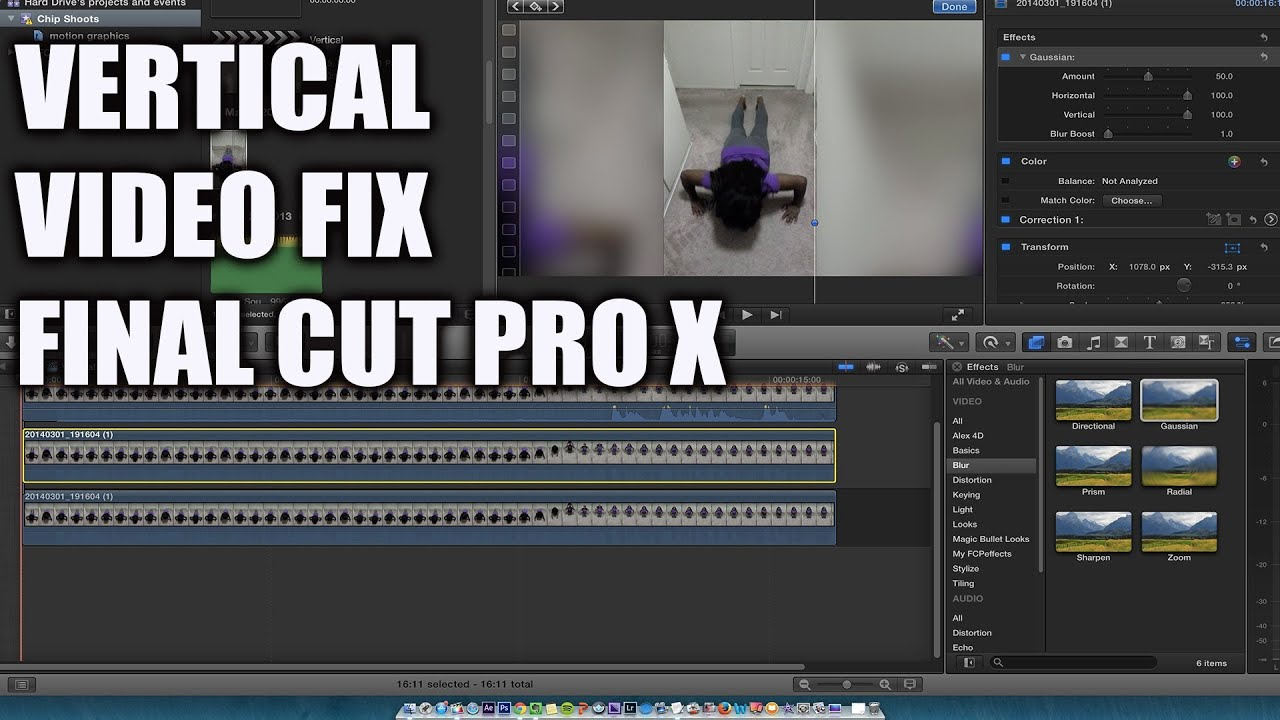 A fix for vertical video with final cut pro x youtube ccuart Gallery