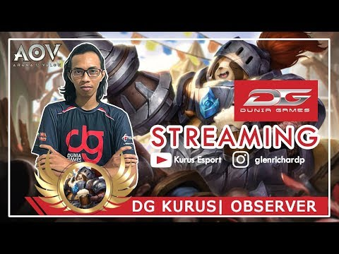 Live Stream |  DG Kurus AOV INDONESIA (18+) | Observer | 1K Subs ~ TIME TO GIVEAWAY :)
