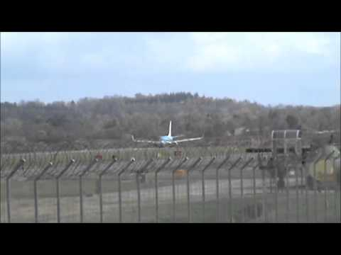 Collection of departures and landings Edinburgh airport