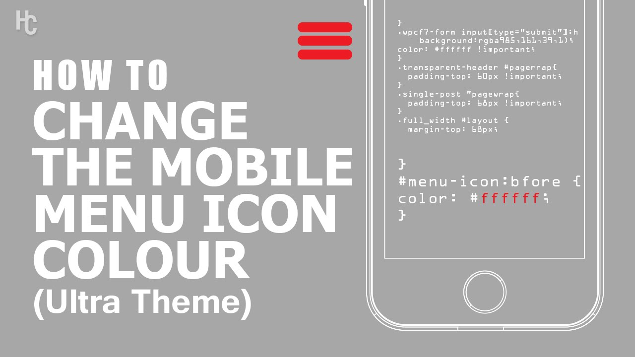 How to Change the Mobile Menu Icon Color [Ultra Theme]