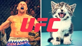 "The greatest fight of Chuck Liddell, Chris Weidman, Demetrious Johnson, Anthony Johnson, and Jessica Eye's lives: puppies or kitties? Stay tuned for ""The Try ..."