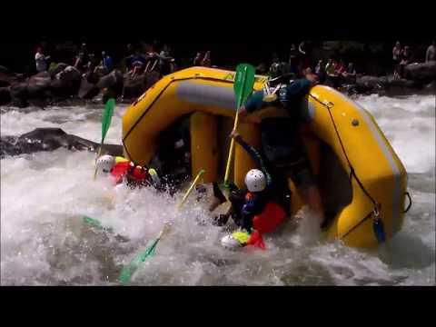 Best Whitewater Rafting Flips On The Ocoee River - Ocoee River Swim Team Action
