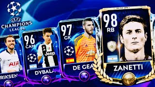 PRIME ICON ZANETTI ! Champions league Road in Fifa Mobile 19 - champions masters and packs opening