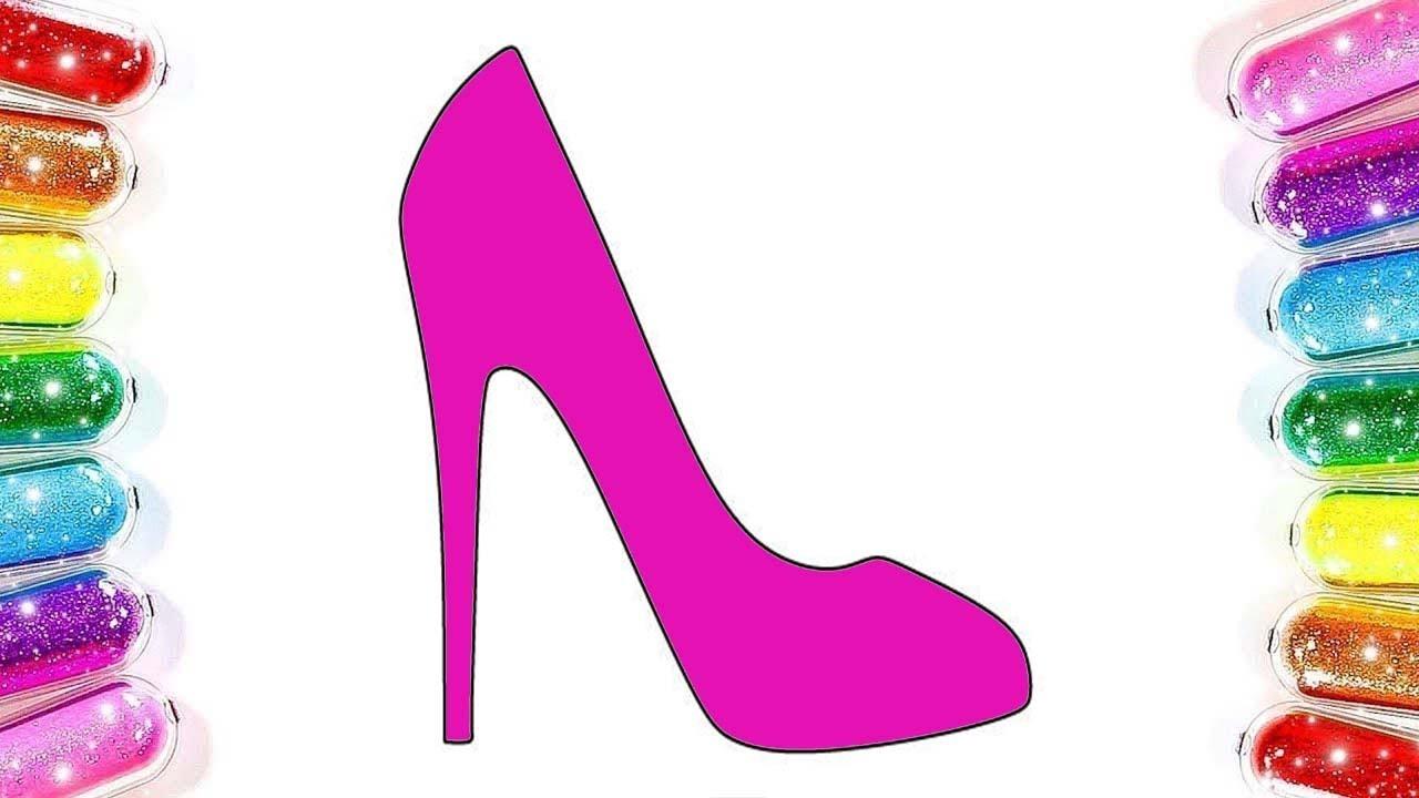 Topuklu Ayakkabi Boyama Renkleri Ogreniyorum Boyama Sayfasi