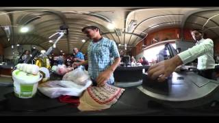 【360動画】ヨルダン難民キャンプ 瞳の認証で個人識別