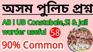 Assam Police Expected Question paper Analysis for ab ub Constabl,si & Jail warder useful.