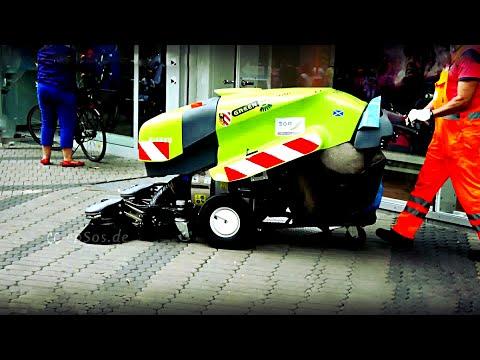 Fancy Machine for Street Cleaning in Europe.