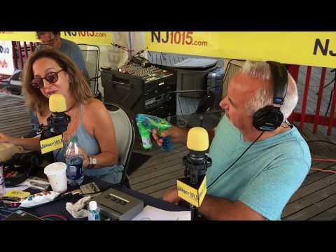 Bubbles! Dennis 'shoots' Judi in Atlantic City