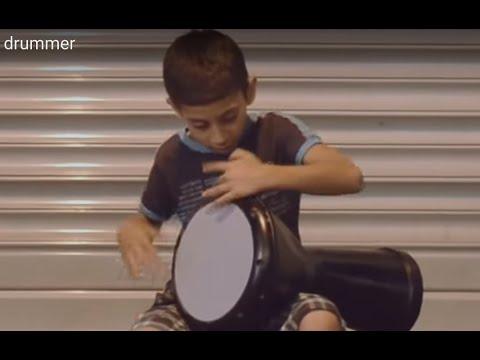 Amazing Street Doumbek(Goblet Drum) Kid drummer