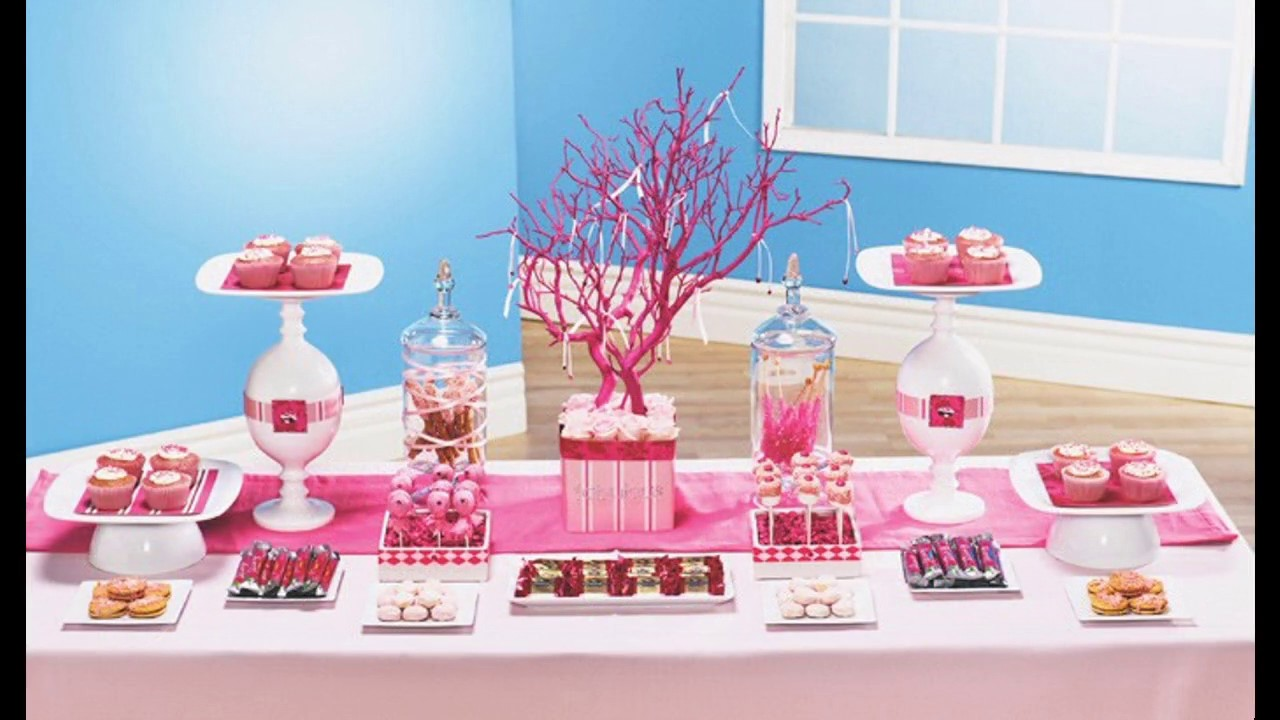 Pink party decorating ideas - YouTube