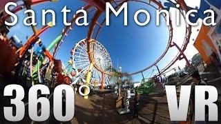 360° Video - Santa Monica Pier Virtual Reality Tour 1 - California USA