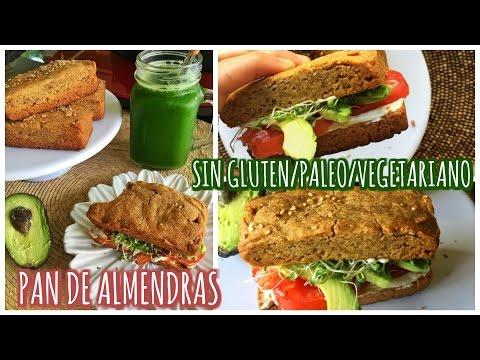PAN DE ALMENDRAS PARA SÁNDWICH! Sin gluten/paleo/vegetariano 🍞