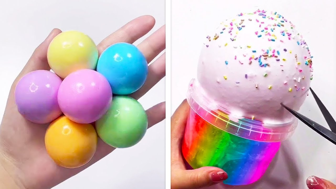 Oddly Satisfying Slime ASMR No Music Videos - Relaxing Slime 2020 - 123