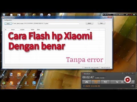 Cara Flash hp Xiaomi via Mi flash tanpa error.