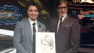 Kaun Banega Crorepati 8 | Ali Zafar Sketches Amitabh Bachchan Live !