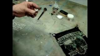 cutting abalone mother of pearl laminate inlay glass gilding how to.wmv