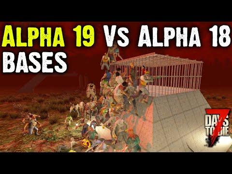 7 Days To Die - Alpha 19 Vs Alpha 18 Bases - Top 5 Base Builds