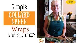 Repeat youtube video Collard Green Veggie Wrap with Peanut Sauce