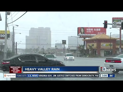 Heavy rain hits Las Vegas valley on Aug. 4