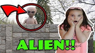Stalked By An Alien! An Alien Was Watching Me! Skit