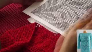 Филейное вязание. Туника часть 2 (