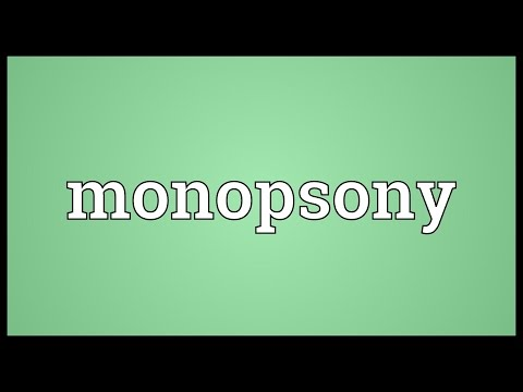 Monopsony Meaning