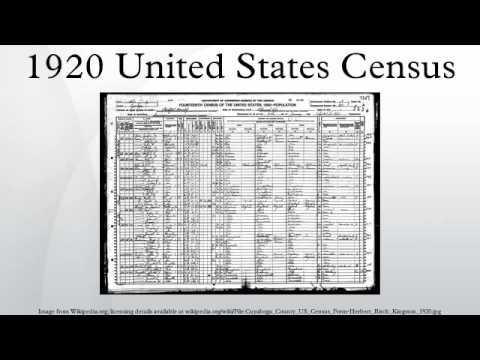 1920 United States Census