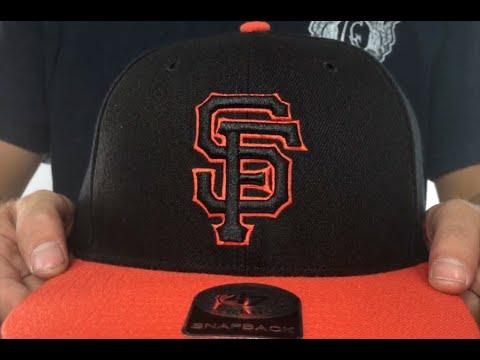 2b84dbca SF Giants 'NO-SHOT SNAPBACK' Black-Orange Hat by Twins 47 Brand