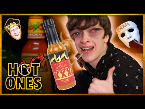 EMH's Hot Ones CHALLENGE (10 Hot Wings + DRENCHED in The Last Dab XXX)