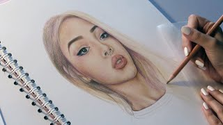 lily maymac speed drawing faber castell polychromos coloured pencils