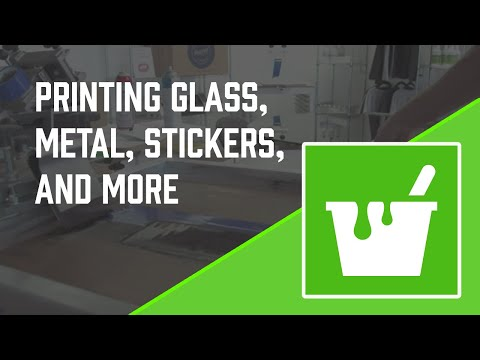 How to Screen Print: Graphic Inks, Sticker Printing, Glass, Metal Signs and More