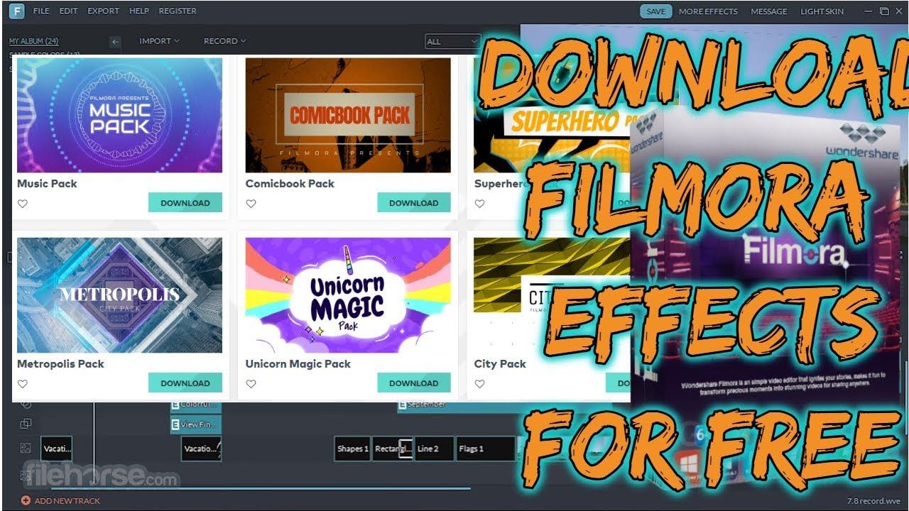 filmora fireworks pack free download