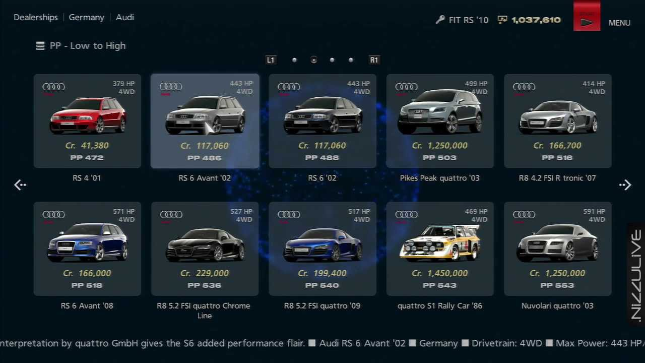 how to get credits in gran turismo 6
