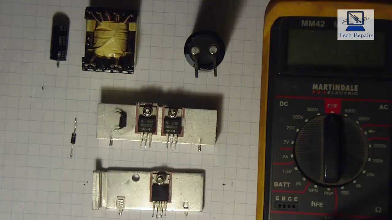 Learning Schematics And Testing Components Power Board Of A Philips Circuit Lcd Monitor Eadp 43af Youtube