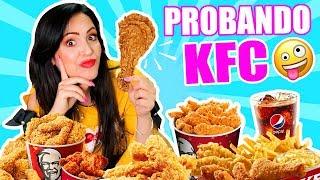 😱 PROBANDO por PRIMERA VEZ el Menú de KFC 😜 Con mi Familia en Estados Unidos 🔥 SandraCiresArt