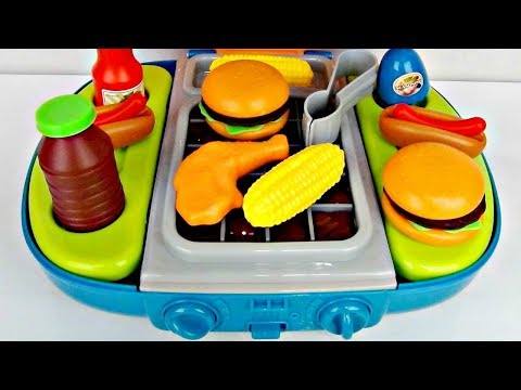 Thumbnail: Barbecue BBQ Deluxe Full Light Sound Playset, Grill Burger, Hotdog Superhero In Real Life IRL / TUYC