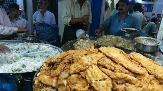 BIGGEST Indian Street Food Style TAWA FISH at Food Street of Karachi Pakistan