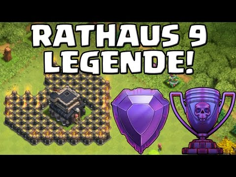 RATHAUS 9 IN LEGEND LEAGUE! || CLASH OF CLANS || Let's Play CoC [Deutsch/German HD+]