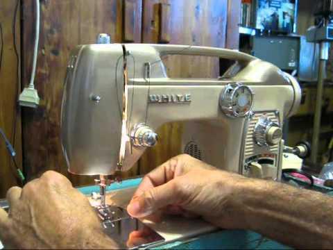 Sewing Machine 40 The White 40 YouTube Enchanting White Heavy Duty Sewing Machine Model 1866