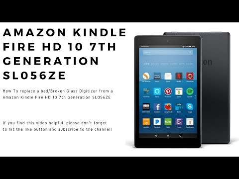 How to replace a Digitizer on a Amazon Kindle Fire HD 10 7th