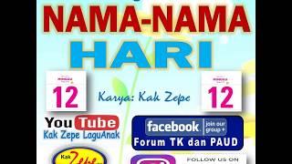 🌟🌟🌟 NAMA - NAMA HARI  - lagu anak Indonesia Terbaru 2020 tentang nama hari mengenal belajar waktu