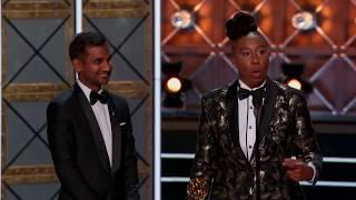 #EmmyNaTNT   Discurso de Lena Waithe e Aziz Ansari