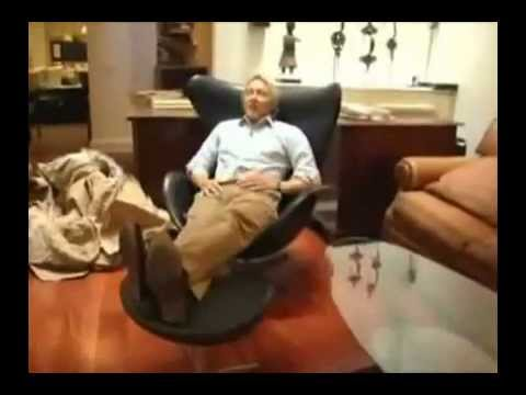 fauteuil egg cuir arne jacobsen 1958 youtube. Black Bedroom Furniture Sets. Home Design Ideas