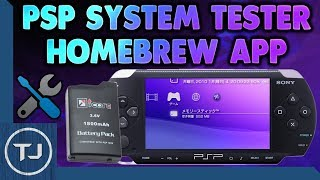 PSP System Tester Homebrew App! (Find & Fix Faults!)