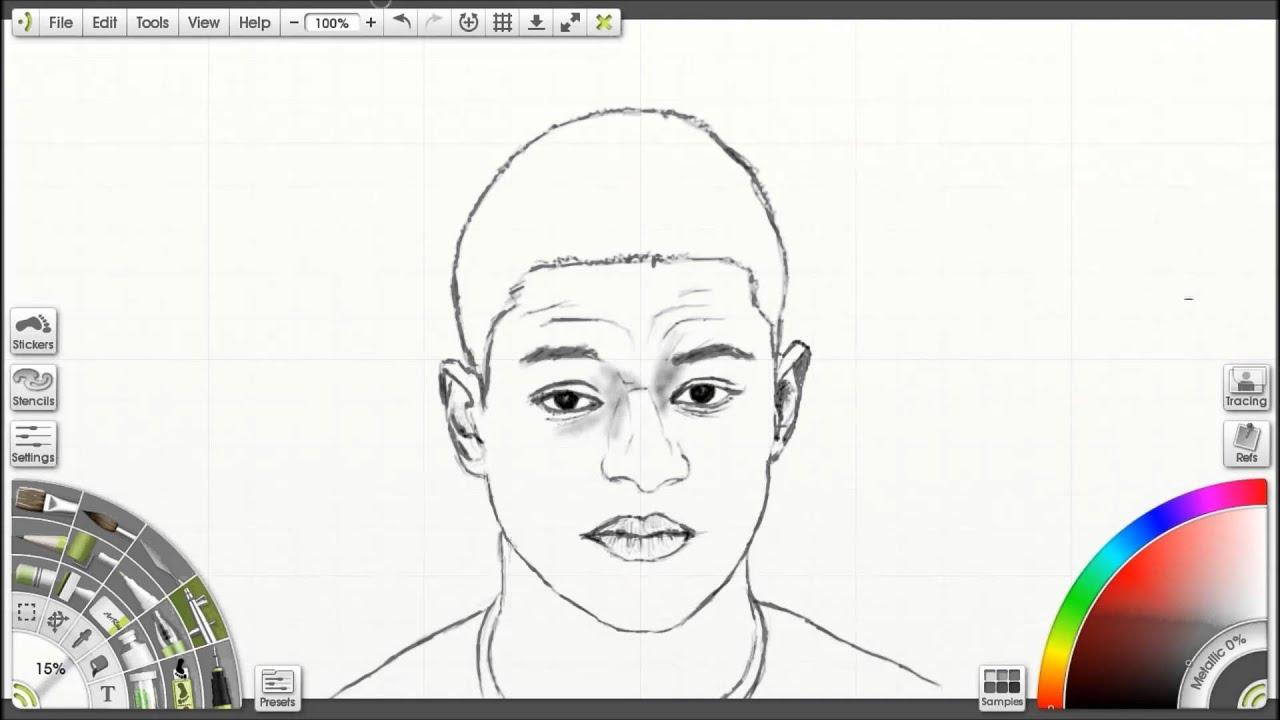 Sketching Marcus Rashford Manchester United Youtube